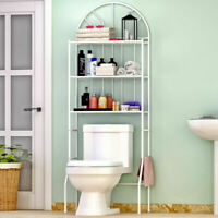 3 Shelf Over The Toilet Bathroom Space Saver Towel Storage Rack Organizer White