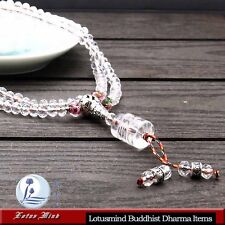 Lotusmind sparkling faceted clear crystal 108 prayer bead mala Mani mantra