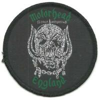 MOTORHEAD england 2004 circular 7.5cms WOVEN SEW ON PATCH - no longer made LEMMY
