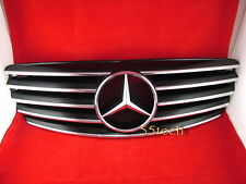 Mercedes W220 S500 S430 grille grill 00~02 Black 5 fins 2000 2001 2002 CL STYLE