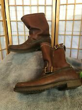 VTG Gokey Botte Sauvage Leather double buckle Brown Men's Hunting Boots 9D