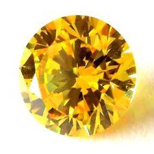Round 8 mm 3.5 ct VVS Yellow Brilliant Lab Diamond Hearts & Arrows Solitaire Gem