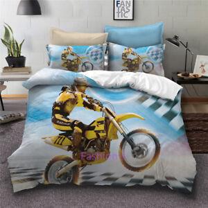 Motorbike Doona/Duvet/Quilt Cover Set Single/Double/Queen/King Bed Pillow Case
