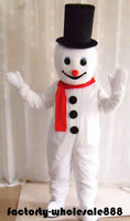 Xmas Snowman Mascot Costume Cosplay Christmas Party Adults Fancy Dress Halloween