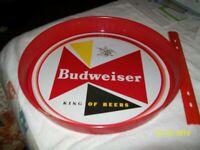 """BUDWEISER BEER METAL SERVING TRAY ~KING OF BEERS 13"""""""