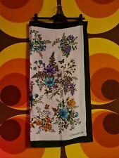 Vintage Retro Pinup Head Scarf D'este Flower Design 100% Silk Italian