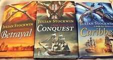 3 KYDD Sea books, NEW, Julian Stockwin, Betrayal, Conquest, Carribbee, 12 13 14