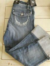 Rock & Republic Misses CAPRI Distressed Blue Denim Jeans 4 16 Coney Island