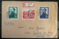 1951 Berlin East Germany DDR Cover Mao Tse Tung Set # 82-84 To Seelbach