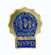 Metal Enamel Pin Badge Brooch NYPD Detective New York Police Department Warrant