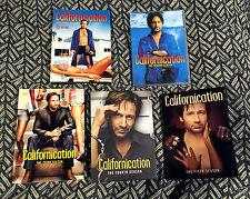 Massive CALIFORNICATION FIVE SEASON DVD SET LOT PLUS DAVID DUCHOVNY BACKER CARDS