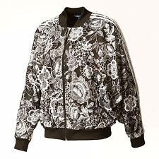 adidas Originals FARM Women Florido Floral Lace Print Batwing Cape Bomber Jacket