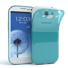 Ultra Slim Cover für Galaxy S3 / Neo Case Silikon Hülle Transparent Hellblau