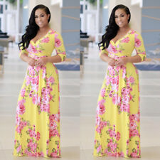 New Women BOHO Long Evening Party Cocktail Prom Floral Summer Beach Maxi Dress