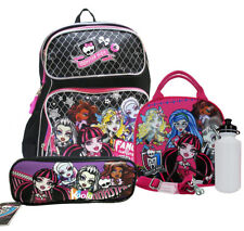 "Monster High Backpack 16"" Large School Backpack w/ Lunch bag & Pencil Pouch"