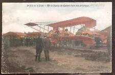 1910 Brasschaat Belgium Rppc Postcard Cover Pierre de Caters In His Aircraft