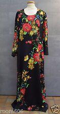 Kleid - Abendkleid Cocktailkleid Party  - Gr. 44/46 Vintage schwarz mit Blumen