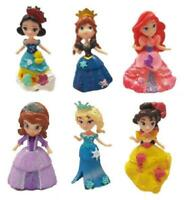 Disney Princess 6 Piece Figurine Set Cake Toppers Lot Pce Belle Snow White