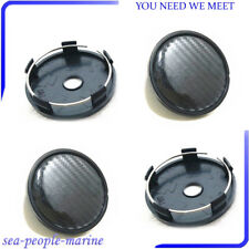 4PCS 60mm/58mm Universal Carbon Fiber Surface For Car Wheel Center Hub Cap Cover