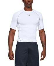 $115 Under Armour Men's White Short-Sleeve Performance Crew-Neck T-Shirt Size M