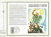 FEUILLET CEF 1er JOUR FRANCE LUTTE CONTRE LE CANCER 1970