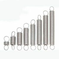 10pcs 304 Stainless Steel Expansion Spring Tension Extension 0.3mm/0.5mm/0.6mm