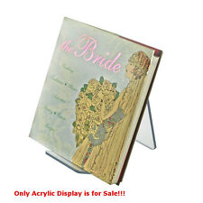 """Count of 10 New Clear Acrylic Easel Display 4""""W x 8""""D x 8.75""""H"""