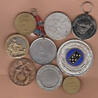 NINE VARIOUS COMMEMORATIVE MEDALS IN AVERAGE VERY FINE CONDITION.