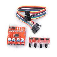 1 Set Smart Car 4 Channel Infrared Detector Tracking Sensor Module fits Arduino