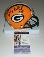 PACKERS Johnny Holland signed mini helmet w/ #50 JSA COA AUTO Autographed LB