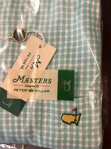 New XL Peter Millar MASTERS GOLF Long Sleeve Button-Front Shirt with Pocket NWT
