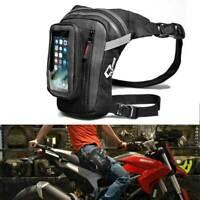 Bolso de Cintura Pierna para Motocicleta con Bolsillo Transparente Táctil
