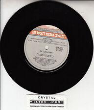 """ELTON JOHN  Crystal 7"""" 45 rpm vinyl record + juke box title strip"""