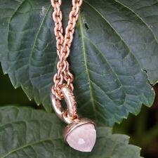 CHILANGO Anhänger Oak Grand Palais Rosenquarz 925/-Silber pink gold plated