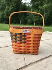 Longaberger 1998 25th Anniversary Basket Combo, Liner, Protector