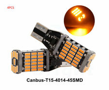 4*T15 4014 45 SMD LED 12V Amber Yellow Canbus Car Bulbs Turn Signal Light