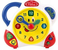 Happy Kid Bilingual Learning Clock Ages 2+ Toy Learn Time School Play Teaching