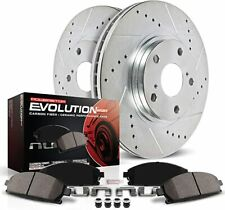 Power Stop K3167 Front Brake Kit Drilled/Slotted Brake Rotors Z23 Pads
