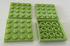 *NEW* 4 Pieces Lego PLATES 4x4 LIME GREEN 3031