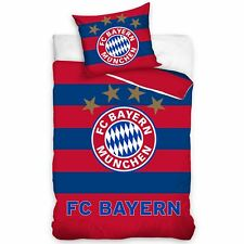 FC BAYERN MUNICH STRIPE SINGLE DUVET COVER SET 100% COTTON MUNCHEN