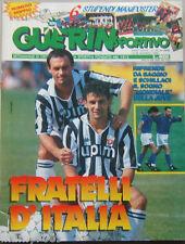 GUERIN SPORTIVO=N°33/34 1990=BAGGIO E SCHILLACI COVER=6 POSTER=ADESIVI SERIE A