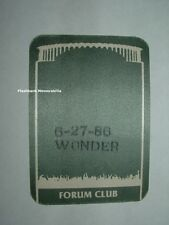 STEVIE WONDER 1986 Concert BACKSTAGE PASS FORUM L.A. Not Ticket IN SQUARE CIRCLE