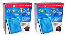 x12 AQUA-TECH 20-40 30-60 EZ-Change FILTER CARTRIDGE #3 Aquarium Water Carbon