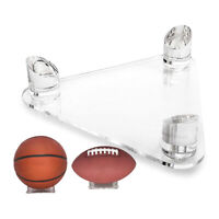 1pc Deluxe Acrylic Clear Ball Display Stand 3 Peg Basketball Soccer Holder