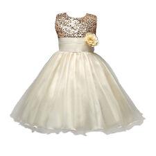 110CM Flower Girl Toddler Baby Sequins Princess Party Formal Tutu Wedding Dress