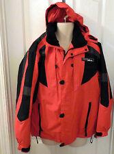 CRANE SPORTS women snowboard ski winter Red JACKET HOOD Size Med #L229