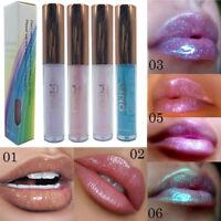 6 Color Natural Plant Fruit Lip Balm Glitter Lipstick Long Lasting Lip Gloss New