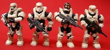 Mega Bloks Halo Fireteam Rhino Building Set #Cnk25 Lot Of Four Figures