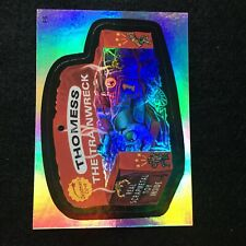 2006 TOPPS WACKY PACKAGES ANS3 3 RAINBOW FOIL STICKER THOMESS THE TRAINWRECK F5