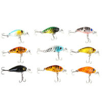 5pcs Fishing Lures Crankbaits Treble Hooks Randomly Baits Tackle Bass Minnow_ZJA